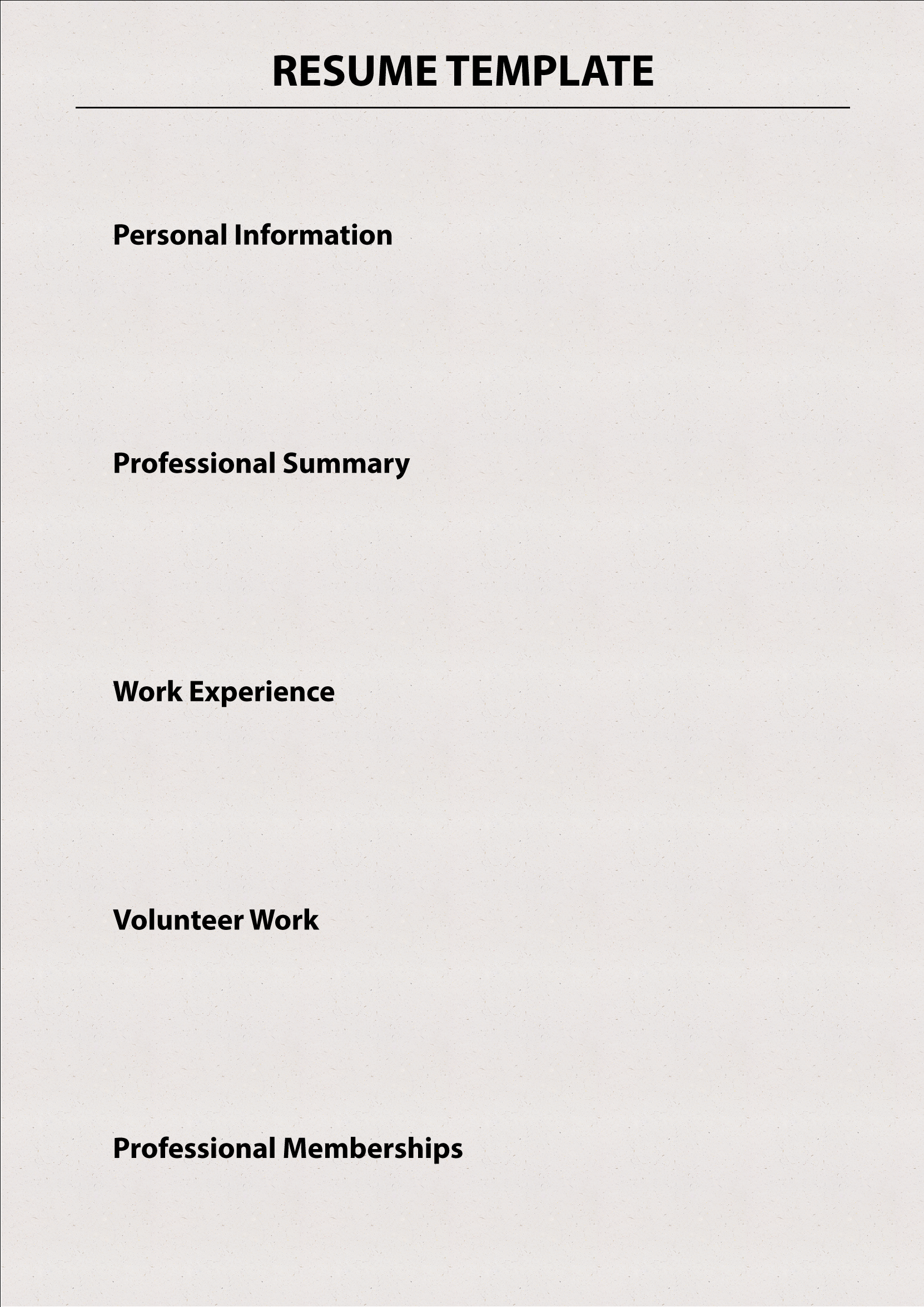 chronological resume template vertical media solutions